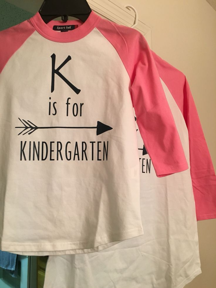 K is for Kindergarten first day shirts for my sister (Kindergarten teacher) and her daughter/mini-me who is starting school this year! Love these!