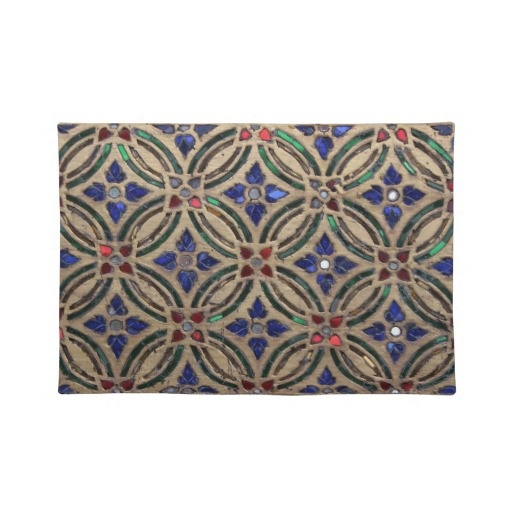 Mosaic tile pattern stone glass Moroccan photo Placemats...this has definite DWR pattern possibilities.