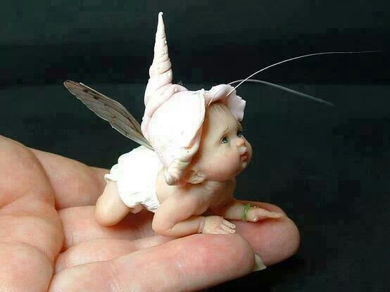Polymer clay fairy baby doll clay ideas for Real art for sale
