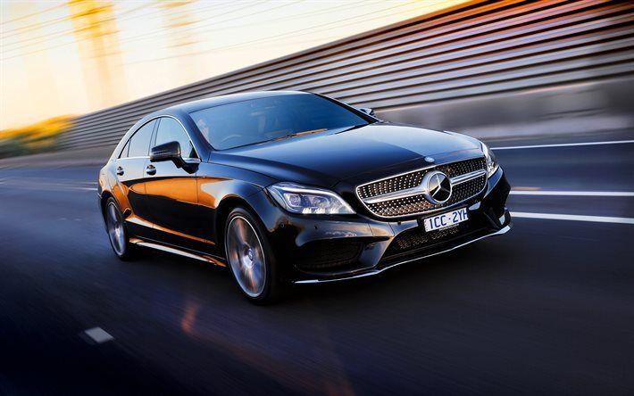 Mercedes-Benz CLS, 2016, black CLS, black Mercedes, AU-spec, AMG, Sport Package, C218