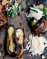 Grilled Eggplant and Tomatoes with Parmesan-Basil Crumbs Recipe from Food & WineGrilled Veggies, Food Recipes, Grilled Vegetable Recipes, Grilled Vegetables, Breads Crumb, Grilled Recipe, Parmesan Basil Crumb, Grilled Eggplants, Summer Recipes