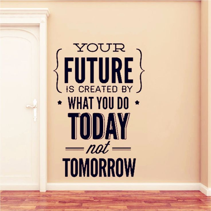 "Cheap wall sticker, Buy Quality quote wall sticker directly from China work hard Suppliers: Inspirational Quotes Wall Stickers "" Your Future..Today"" Office Wall Decor Home Decoration Work Hard To Gain More"