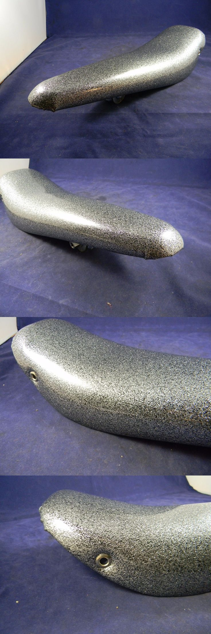 Vintage Bicycle Parts 56197: Nos Vintage Troxel Banana Seat Saddle Bicycle 16 X 5 Silver Glitter BUY IT NOW ONLY: $80.0