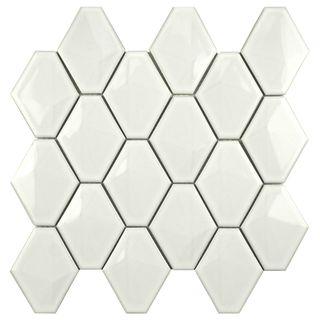 Love This Tile Somertile Chevron 10 5x11 Glossy White Porcelain Mosaic Wall Pack