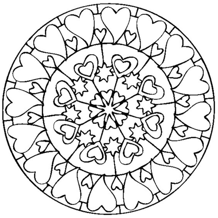 187 best Mandalas Adult Coloring pages images on Pinterest