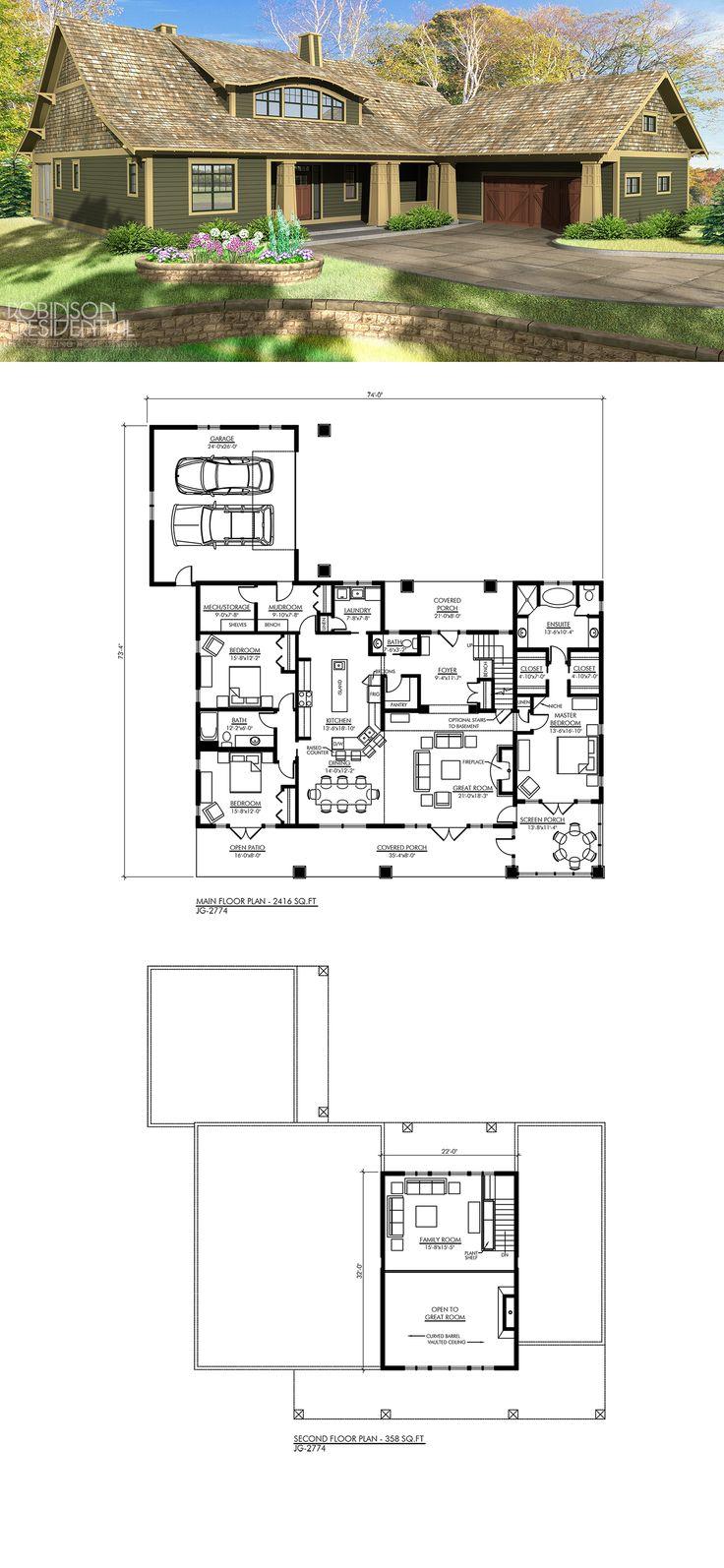 Craftsman JG 2774 Best 51 Craftsman Home Plans