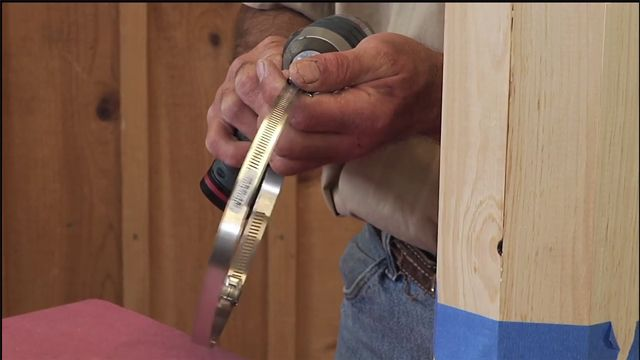 George Vondriska demonstrates how you can utilize standard hose clamps as woodworking clamps to fulfill any clamping needs in your workshop.