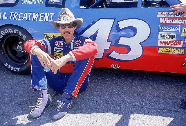 Richard Petty sits outside his No. 43 car at Daytona 500 qualifying in 1987. The King won Daytona a record seven times but finished third that year. (George Tiedemann/SI) Gallery: Classic Photos of...