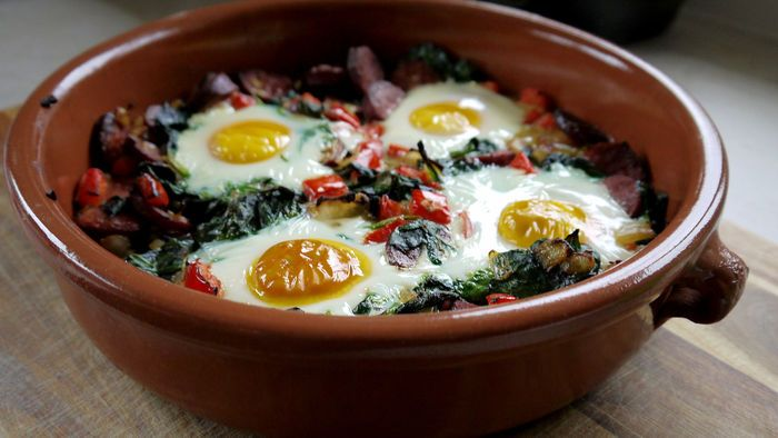Eggs are the perfect way to start your day. They are a great source of protein which will keep you fuller for longer.