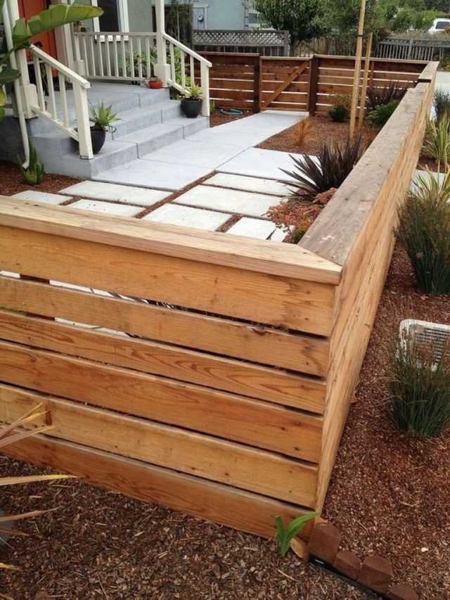 55 Awesome Fence Ideas For Back Yard And Front Yard Front Yard Design Modern Front Yard Front Yard Fence