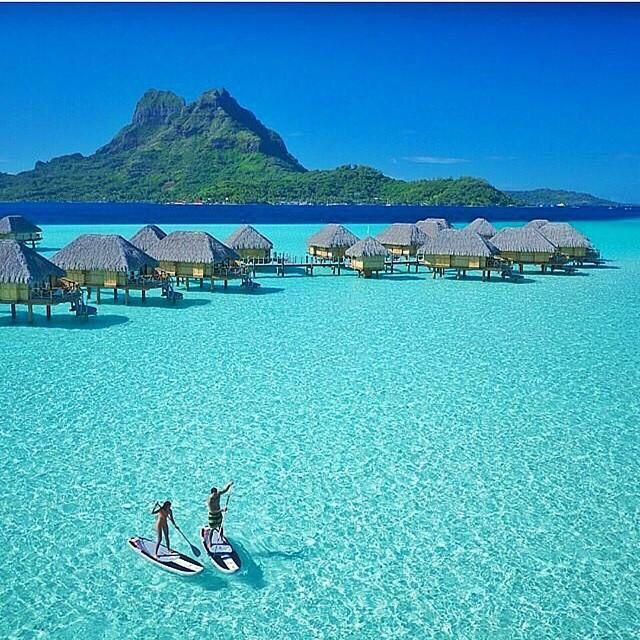 Oh I wish I could just dive into this photo! Bora Bora