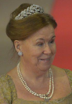 HRH Princess Christina of the Netherlands wearing the Laurel wreath tiara.