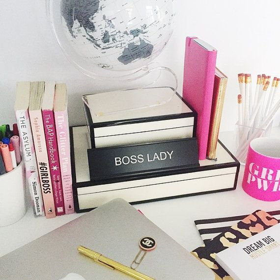 Youre not bossy, youre the BOSS. Make sure everyone knows whos boss with this awesome BOSS LADY desk name plate. Also see our BADASS Name Plate GET IT GIRL Name Plate