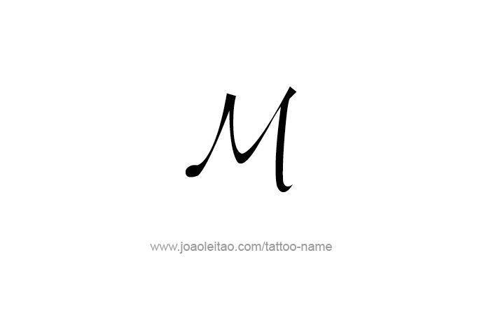 Desenho de Tatuagem do Número Romano M 1000