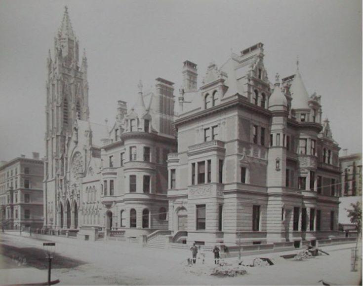 "684 & 680 Fifth Ave   New York, NY. in 1879, W. H. Vanderbilt built the corner house 684 Fifth Ave for his daughter Florence Adele Vanderbilt (Mrs. Hamilton Twombley) and the house adjacent at 680 Fifth Ave for another daughter Eliza ""Lila"" Osgood Vanderbilt (Mrs. William Seward Webb)."