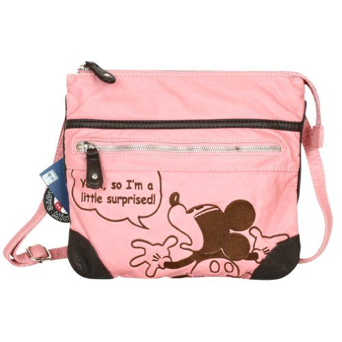 Disney Mickey Embroidery Faux Leather Mini Crossbody Bag