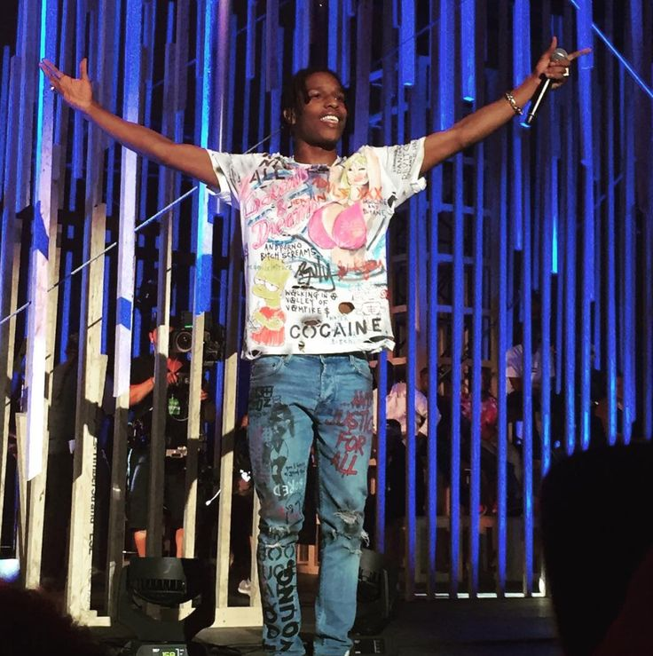 ASAP Rocky At MTV Woodie Awards Performs In @Himumimdead Custom T-Shirt And Jeans | UpscaleHype