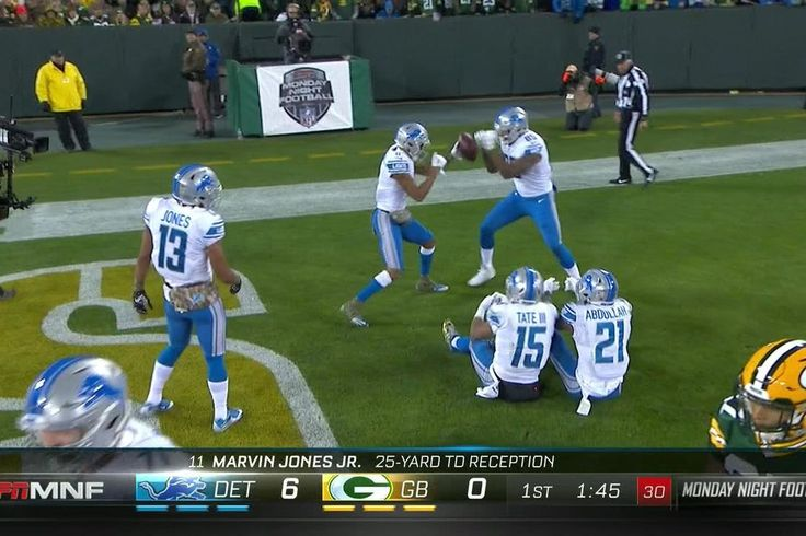 Ameer Abdullah cheated to beat Golden Tate. Detroit Lions wide receiver Marvin Jones got the scoring started on Monday Night Football with a nice 25-yard touchdown against the Green Bay Packers, and the celebration was just as good.              Judging by Golden Tate and Ameer...
