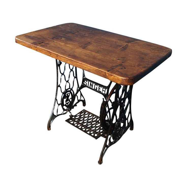 Industrial SINGER Desk with Reclaimed Timber Top