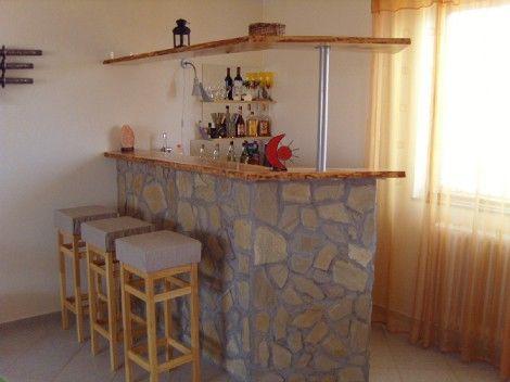 Ötletmozaik - Otthoni bárpult ytongból, homokkőből