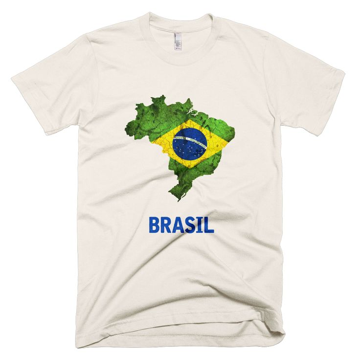 The Brazil T-Shirt.  Find this vibrant flag within the outline of the country itself!  A beautiful way to show the spirit of the country look good at the same time.  Our t-shirts are printed on premium American Apparel, made of 100% cotton.  These unique, vintage look designs will be real attention grabbers while you proudly display one of your favorite countries!