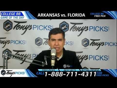 Arkansas Razorbacks vs. Florida Gators Free NCAA Basketball Picks and Pr...