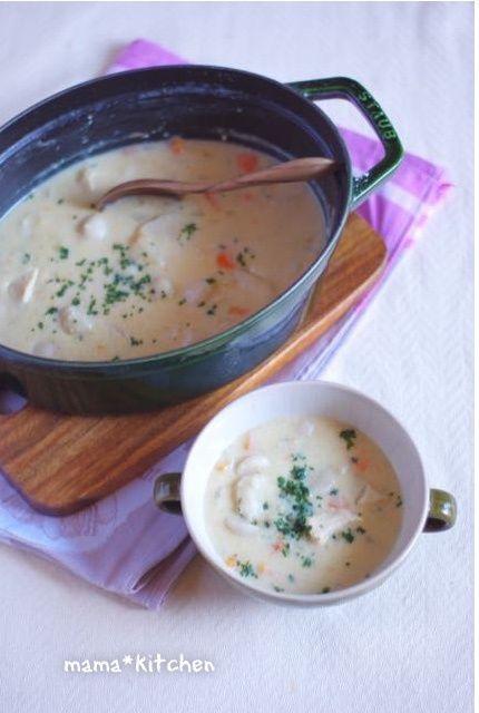 チキンと里芋の味噌シチュー(ルゥは使わないレシピ)。成長したお弁当。 | mama*kitchen