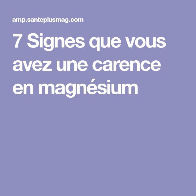 7 Signes que vous avez une carence en magnésium