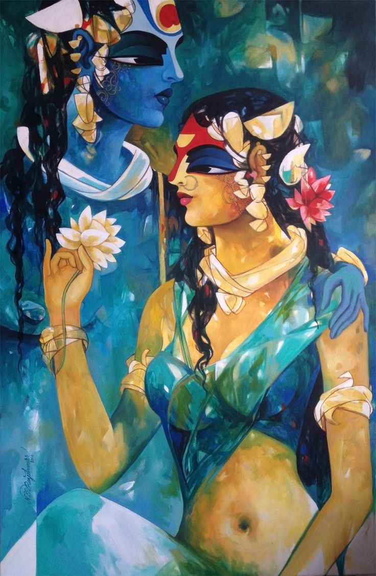 "New Collection of ""Radha Krishna"" Paintings by Artist N P Razeshwarr has been added to Colourentice.com See Complete Collections here: http://www.colourentice.com/artists-painting/241"