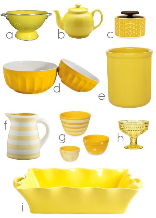 Marvelous Yellow Kitchen Accessories Via #Remodelaholic