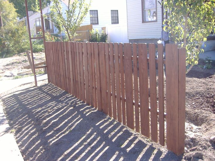 My lovely 100 pallet wood picket fence fences pallets for Pallet picket fence