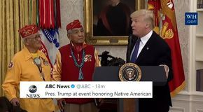 Trump Just Said A Racist Slur Used Against Native Americans In Speech To Native American Veterans