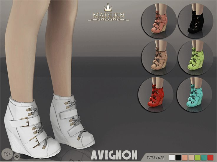 Madlen Avignon Boots Found in TSR Category 'Sims 4 Shoes Female'