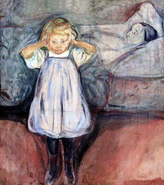 Edward Munch. 1863-1944. L'Enfant et la Mort