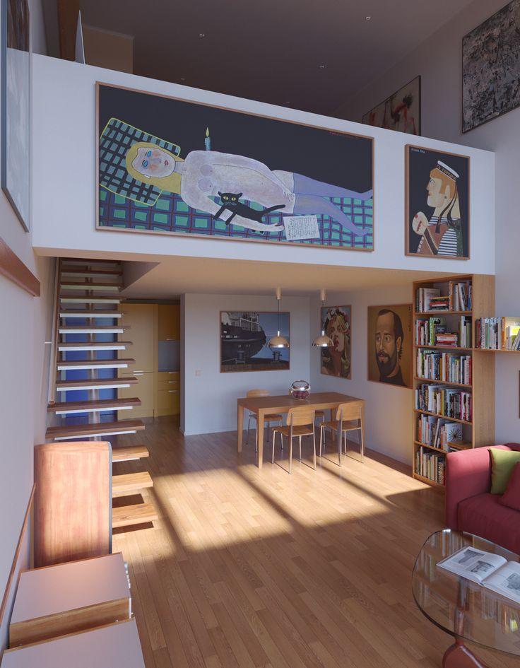 Unité d'Habitation apartment for collector of Soviet nonconformist art.
