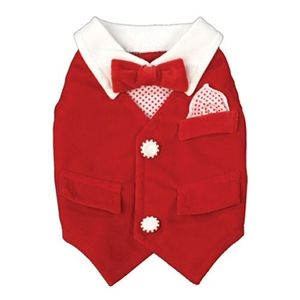 Ruff Ruff Couture Winter Wonderland Dog Vest.  Matching dress for girls available.