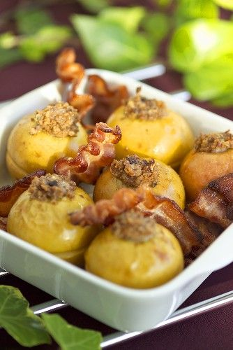 Maple Bacon Baked Apples