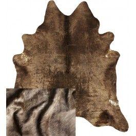 NATURAL COWHIDE RUG MOCHA BROWN