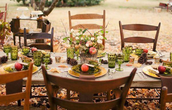 10 décorations de mariage puisées au cœur de la nature automnale