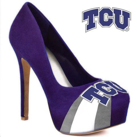 HERSTAR™ Women's TCU Horned Frogs High Heel Microsuede Pumps