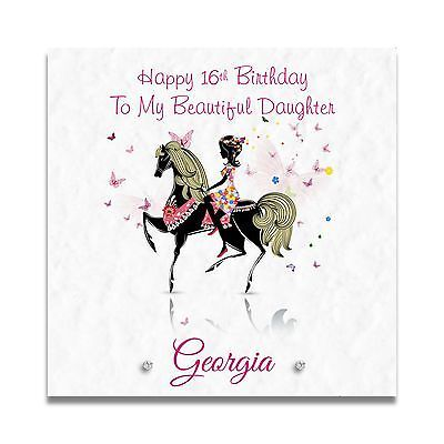 Handmade Personalised Girls 16th 17th 18th Daughter Granddaughter Birthday Card