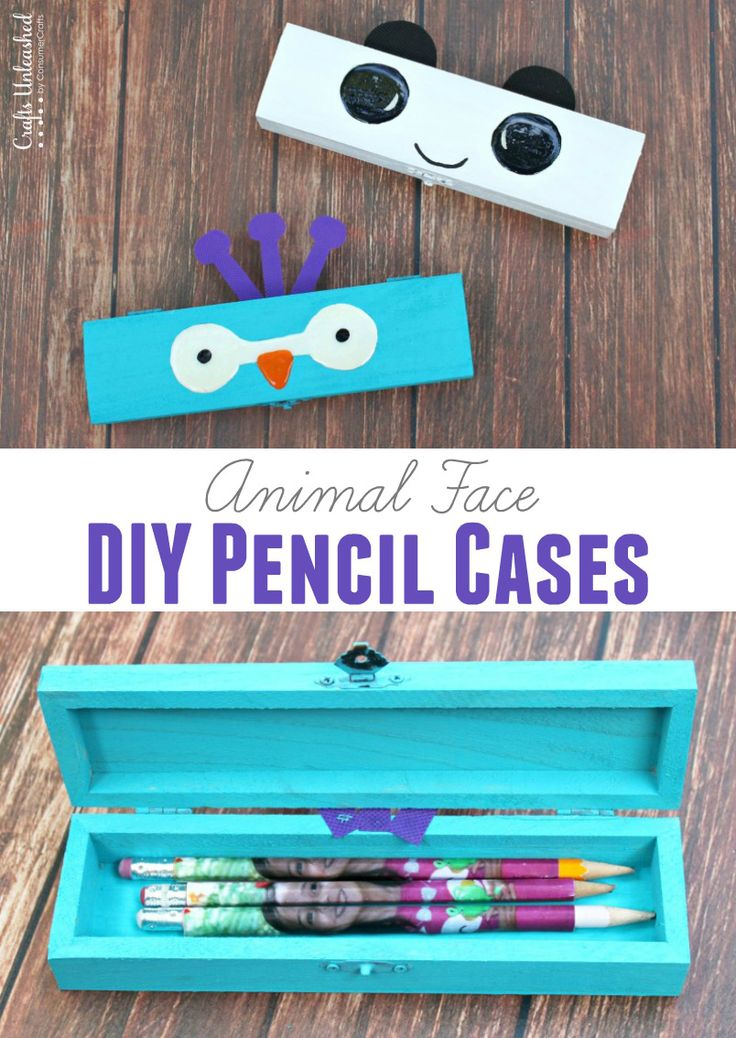 Adorable animal face DIY pencil cases for back to school!