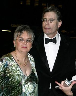 Stephen King with wife, Tabitha King   Married January 2 1971 - present (3 children)