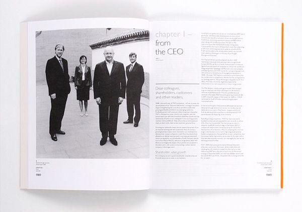 TNT 2007 Annual Report by Marcel Kampman, via Behance