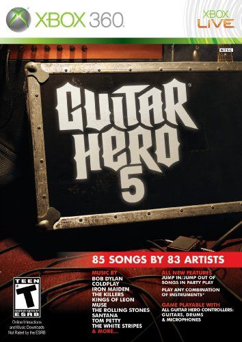 Guitar Hero 5  Xbox 360 Game only ** Want additional info? Click on the image. Note:It is Affiliate Link to Amazon.
