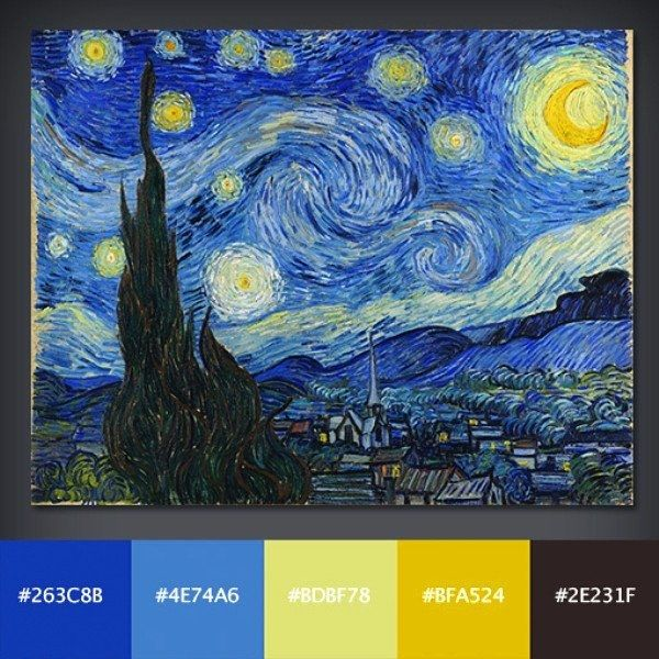 starry night color swatch master bedroom ideas pinterest