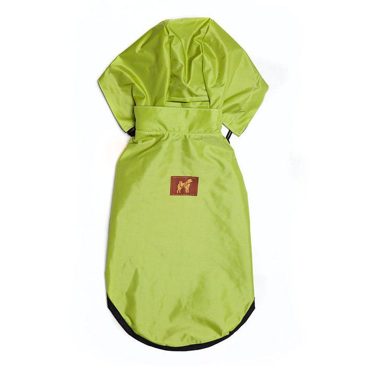 Lot para Menores - Capa de chuva verde-limão com preto e capuz ajustável com destaque