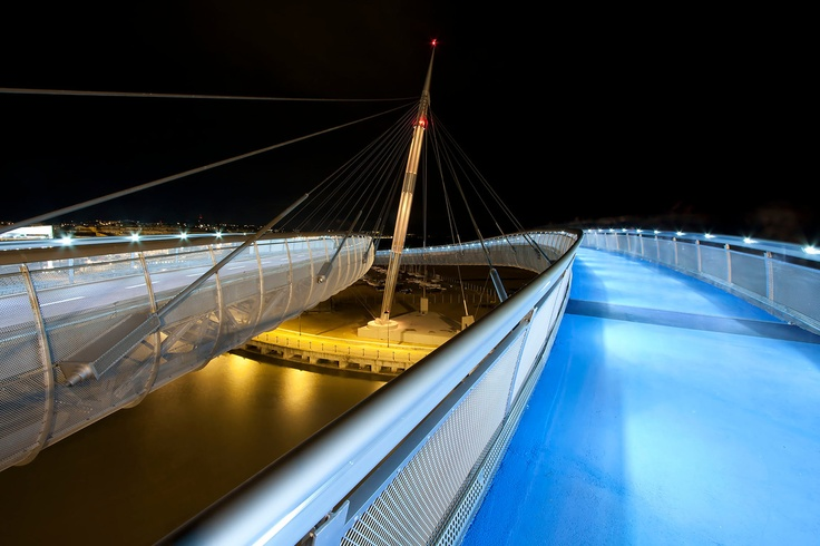This is a pedestrian bridge inside my city, #Pescara #Abruzzo on #Fotopedia