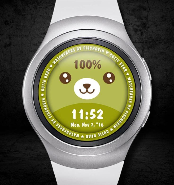 Cutie Bear 24h – Watchfaces by Fischbein