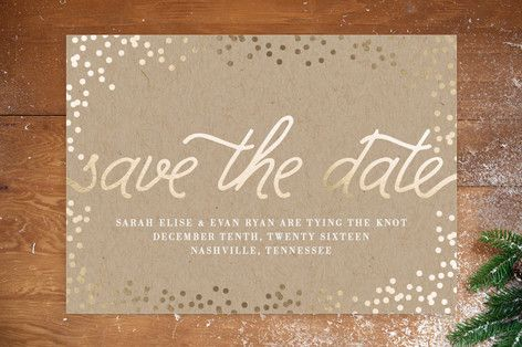 "Steph sent me more examples of font and verbiage ""...I love the combo of printing [serif] and cursive with the names""  Starlight Save the Date Cards"